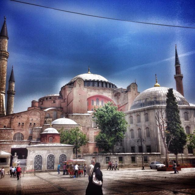 """Front view of Hagia Sophia"" stock image"