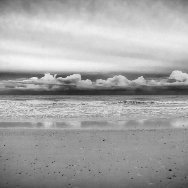"""Storm clouds over ocean"" stock image"