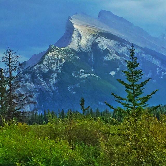 """Mt. Rundle, Banff Park, Alberta, Canada"" stock image"