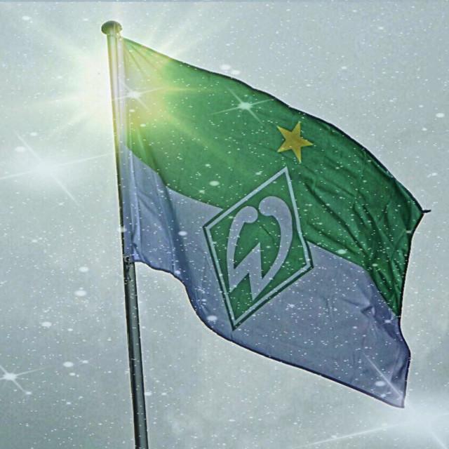 """...fan flag... Werder Bremen... the Master Star..!"" stock image"