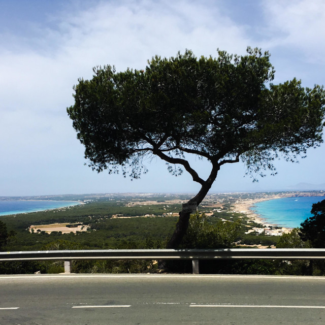 """Panoramic view of Formentera"" stock image"