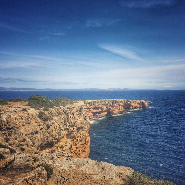 """Looking towards Ibiza from Formentera"" stock image"