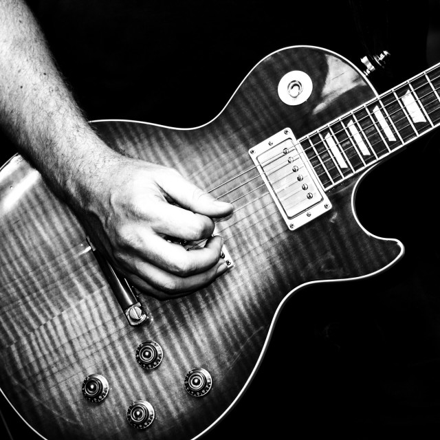 """""""Beautiful Gibson Les Paul from this weekends live gig"""" stock image"""