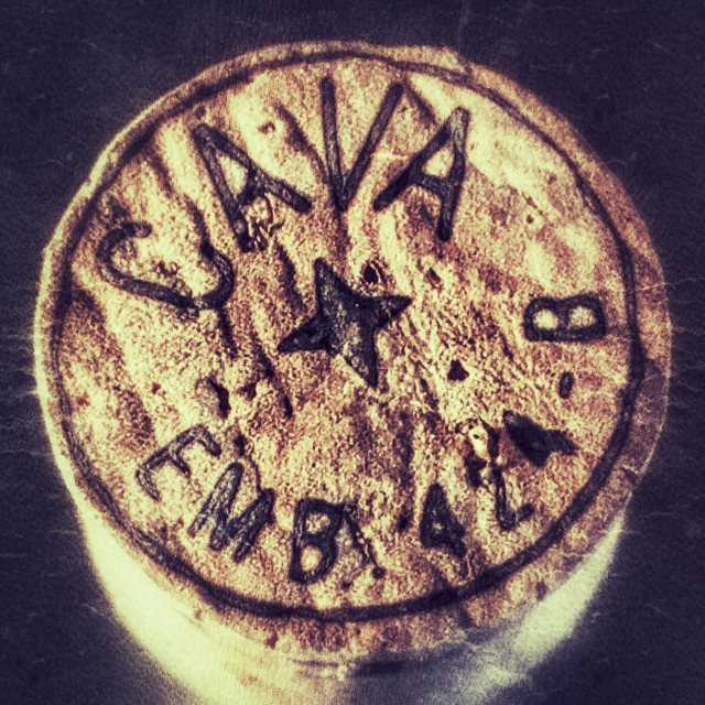 """Cork from a bottle of cava"" stock image"