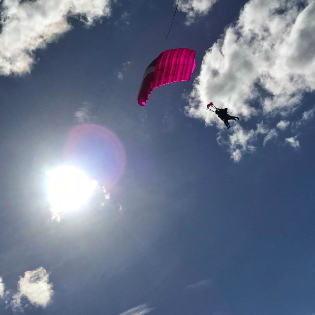 """""""Sky diver on a sunny day"""" stock image"""