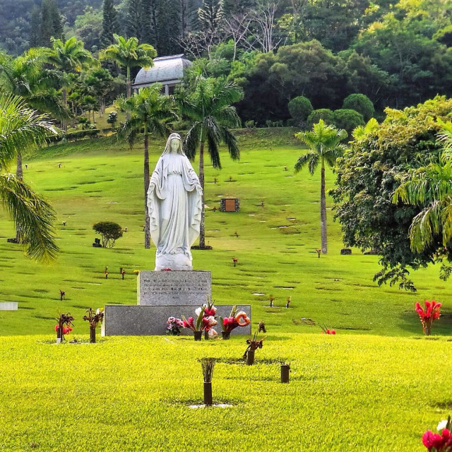 """""""Mama Mary in the Garden"""" stock image"""