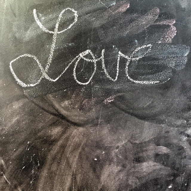 """""Love"" written in chalk"" stock image"