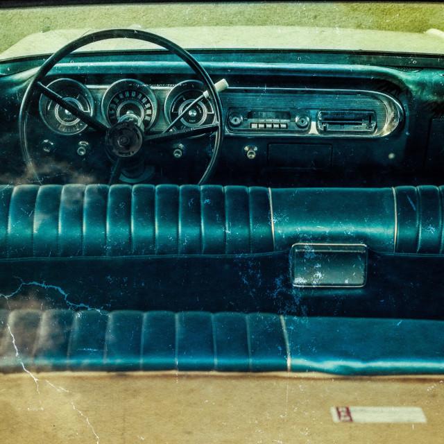 """Ford Fairlane Interior"" stock image"