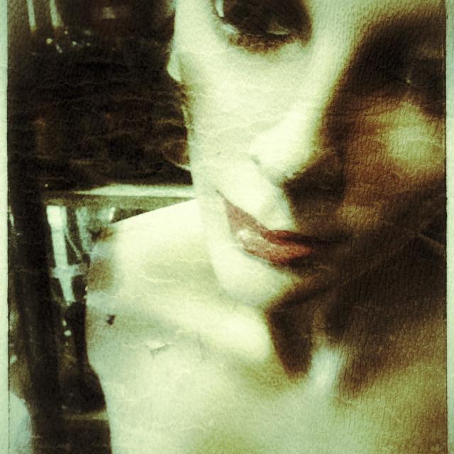 """Mannequin bust using grunge film"" stock image"