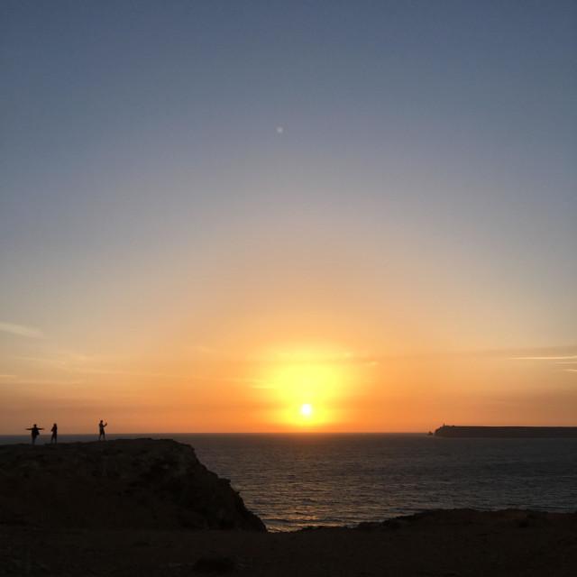 """Sagres sunset"" stock image"