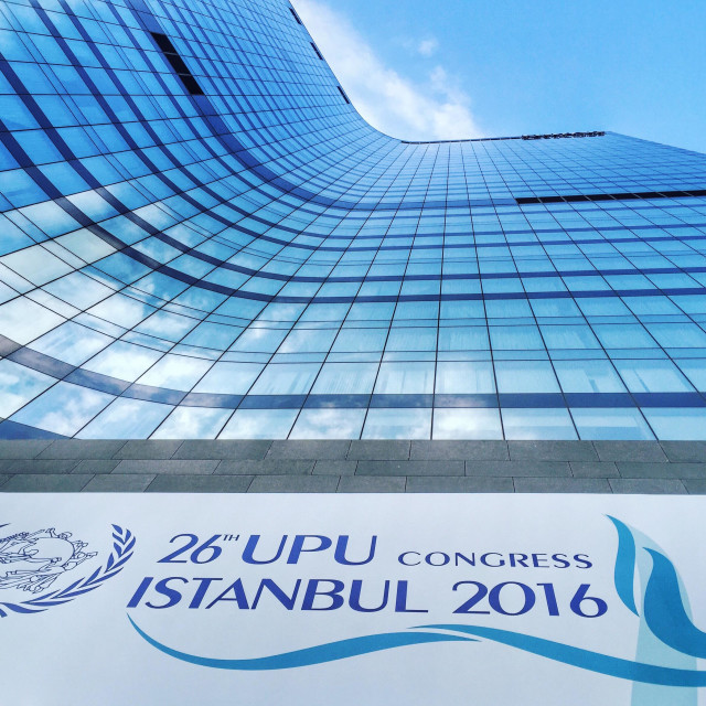 """""""Hilton Bomonti Hotel in Istanbul, hosting the UPU Congress in September/October 2016"""" stock image"""