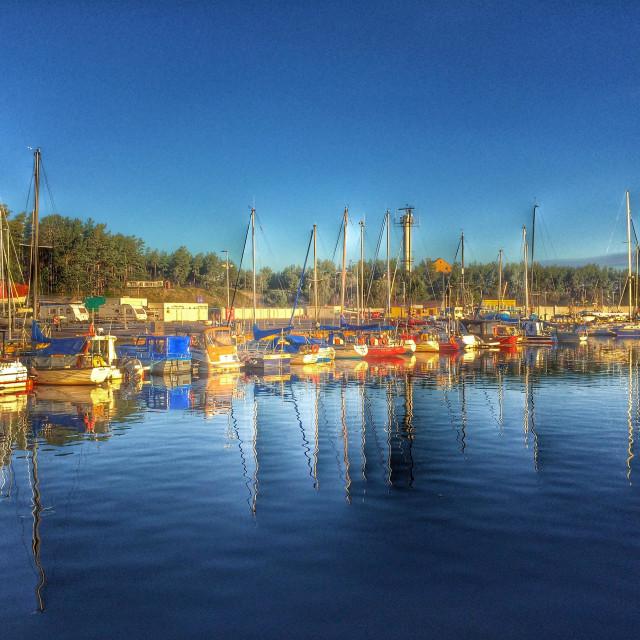 """""""Marina with boats"""" stock image"""
