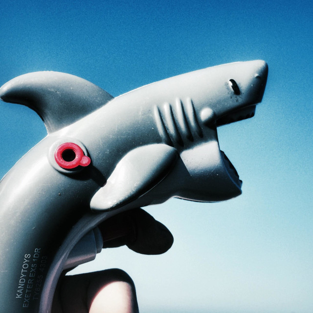 """""""A shark water pistol toy"""" stock image"""