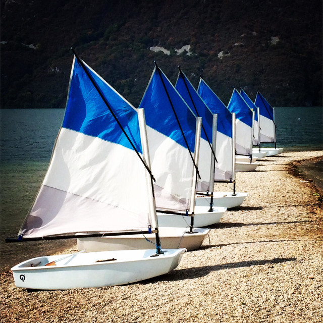 """""""Little sail boats"""" stock image"""