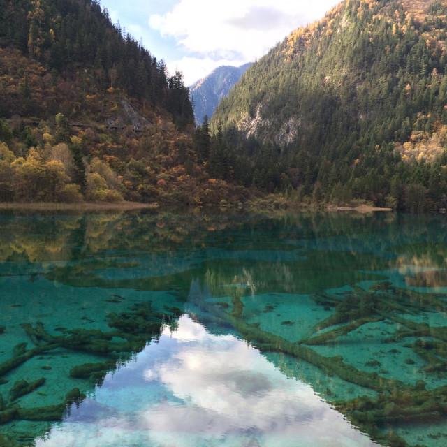 """Jiuzhaigou National Park, Sichuan, China"" stock image"