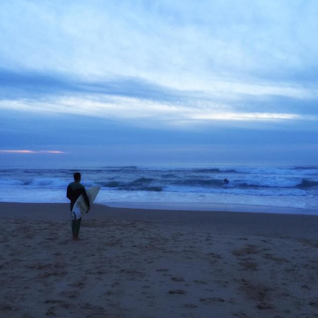 """Surfer Atlantic Ocean France"" stock image"