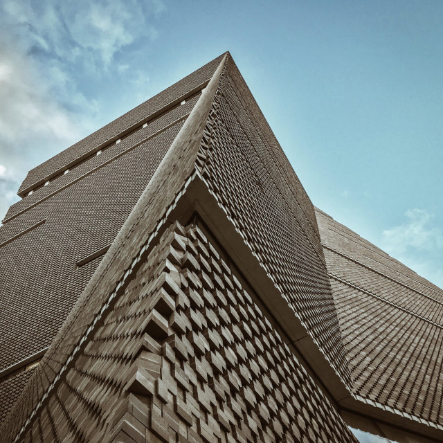 """""""Tate Modern extension. Switch House."""" stock image"""