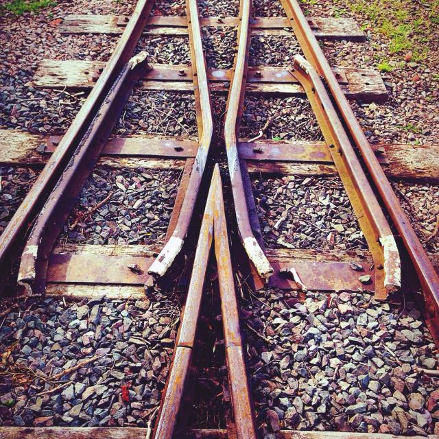 """Narrow gauge railway track"" stock image"
