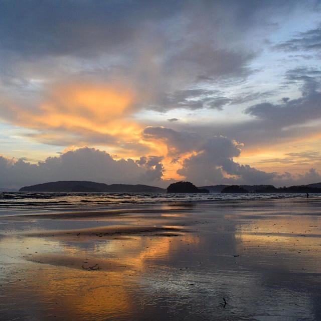 """Ao Nang Sun set, Thailand."" stock image"