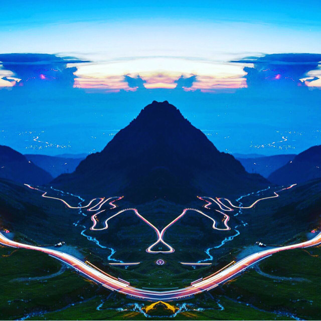 """""""Reflection of mountains"""" stock image"""