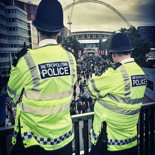 """Police at Wembley Stadium"" stock image"