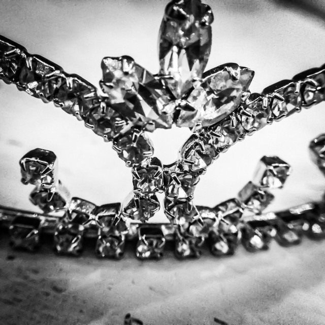 """Black & White Bridal Tiara"" stock image"