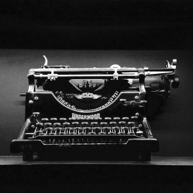 """""""Antique typewriter"""" stock image"""