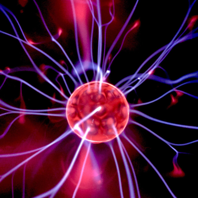 """Plasma ball close up"" stock image"