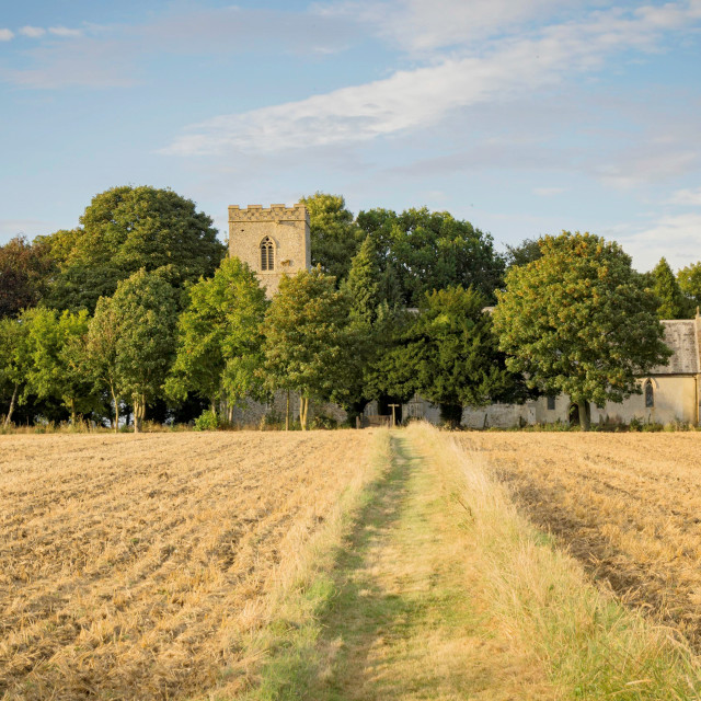 """Church in English countryside"" stock image"