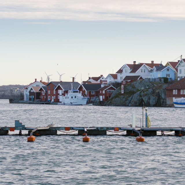 """""""one harbour in sweden on the westcoast"""" stock image"""
