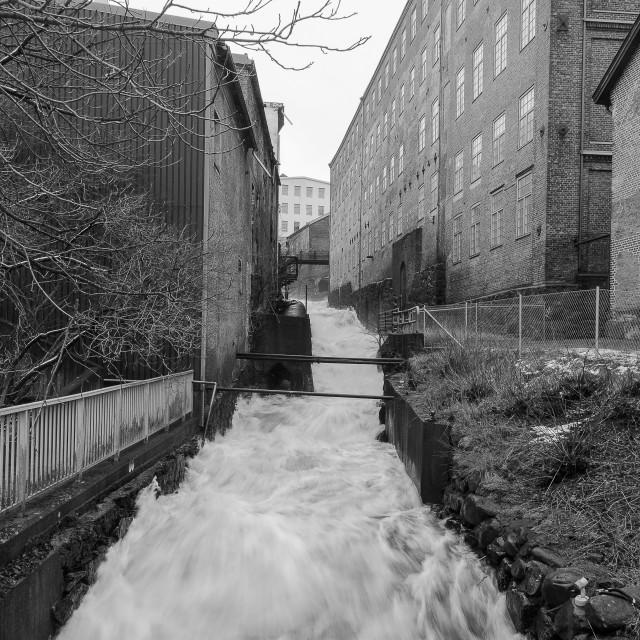 """Rushing water"" stock image"