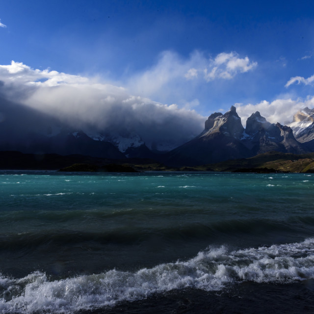 """Torres del Paine national park,Patagonia,Chile."" stock image"