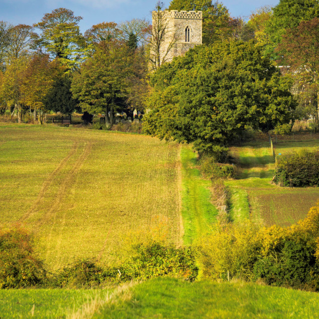 """Norman Church in Suffolk"" stock image"