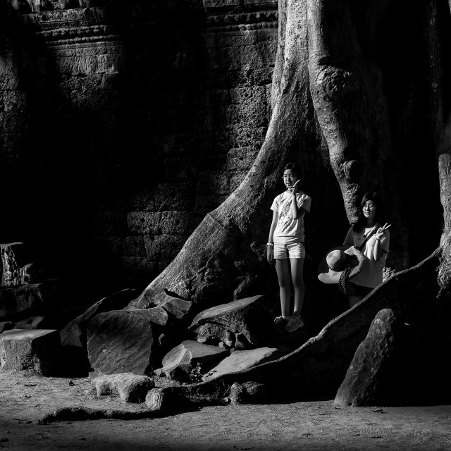 """Angkor Posing"" stock image"