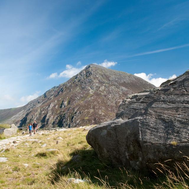 """""""Pen-yr-Ole Wen.Snowdonia North Wales"""" stock image"""