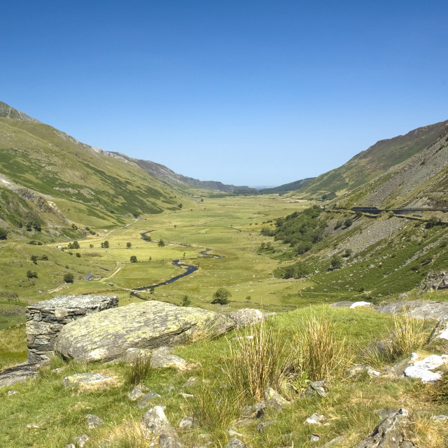 """Nant Ffrancon Pass North Wales"" stock image"