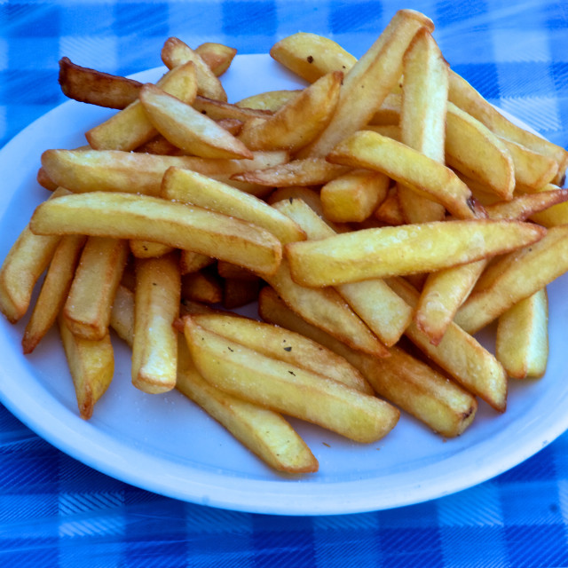 """Plate of Chips"" stock image"