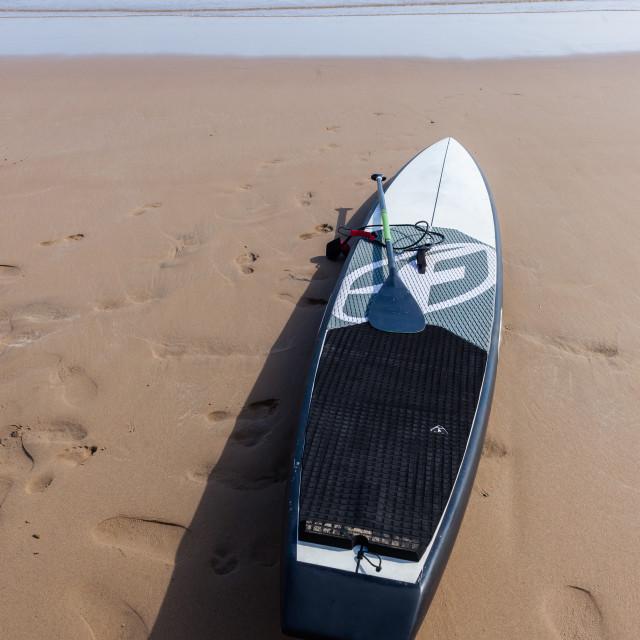 """Paddle Board Beach"" stock image"