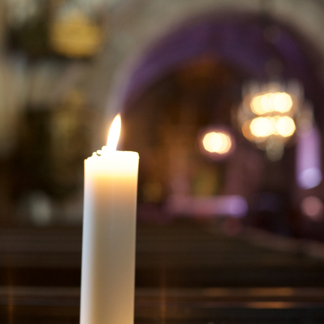"""Church Candle"" stock image"