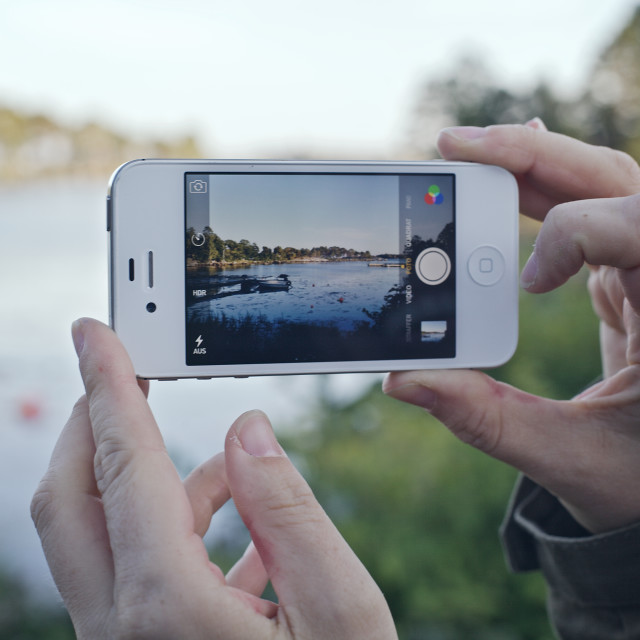 """iPhone Photography"" stock image"