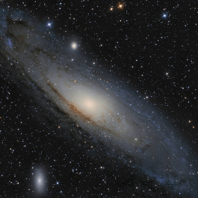 """The Andromeda Galaxy in constellation Andromeda"" stock image"