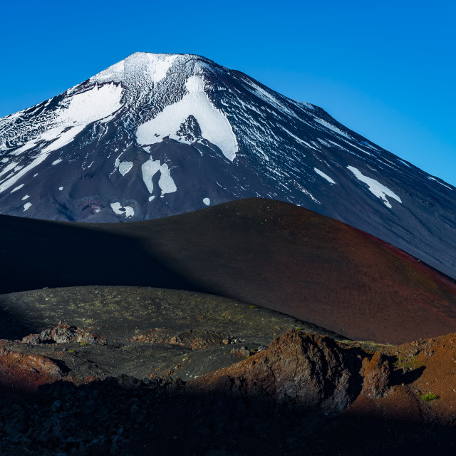 """Lonquimay Volcano, Araucania, Chile"" stock image"