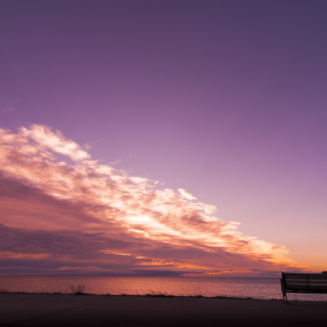 """""""Sunset in Magallanes"""" stock image"""