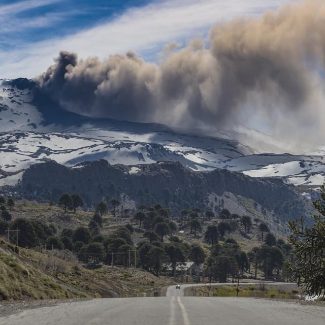 """Copahue volcano, Argentina"" stock image"