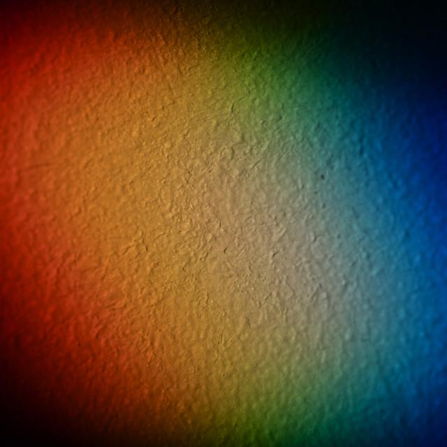 """Rainbow On The Wall"" stock image"