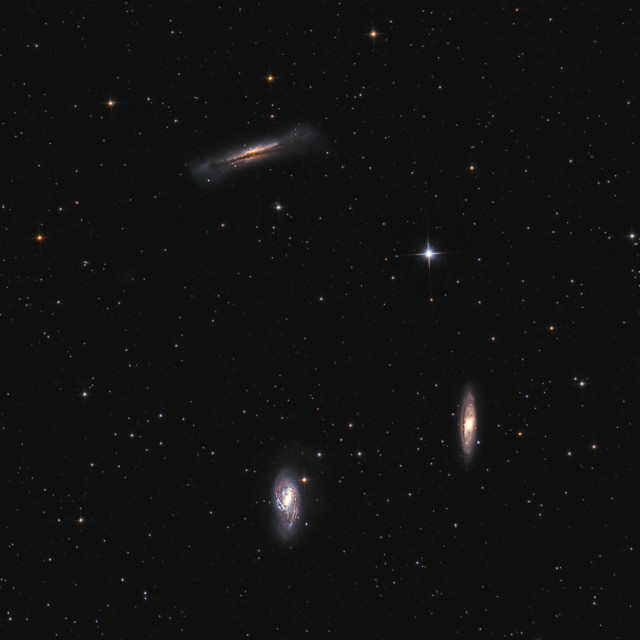"""Deep space objects: Leo Triplet galaxies"" stock image"