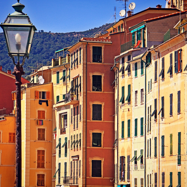 """Houses in Camogli"" stock image"