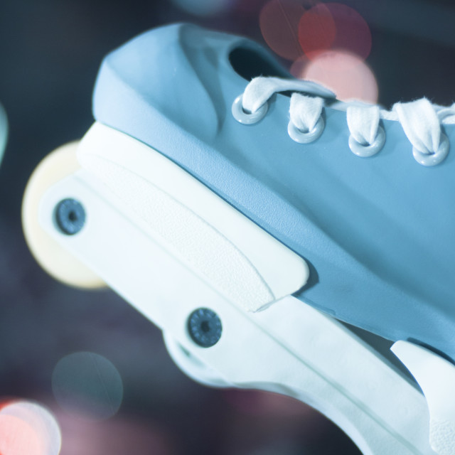 """Aggressive inline free skates"" stock image"