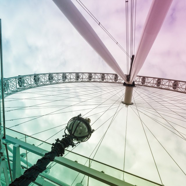 """London eye color view from the ground"" stock image"