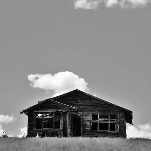 """Poukawa Farm Cottage"" stock image"